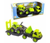 Vilkikas su traktoriumi 61,5 cm ir guminiais ratais | Mochtoys 10171_ZIE