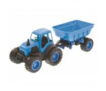 Traktorius su priekaba ir guminiais ratais 55,5 cm | Mochtoys 10174_NIE