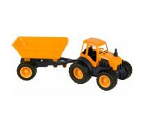 Traktorius su priekaba ir guminiais ratais 55,5 cm | Mochtoys 10174_POM