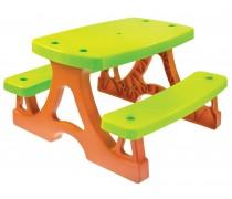 Iškylos stalas su 2 suoliukais | Mochtoys 10722