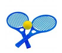 Teniso raketės su kamuoliuku | Mėlynos | Mochtoys 5055_NIE