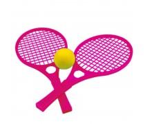 Teniso rakečių komplektas su kamuoliuku | Rožinės | Mochtoys 5055_ROZ