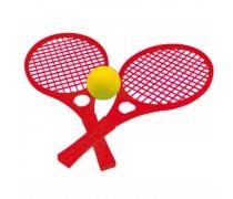 Teniso raketės su kamuoliuku | Raudonos | Mochtoys 5055_CZE