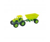 Traktorius su priekaba ir guminiais ratais 55,5 cm | Mochtoys 10174_ZIE