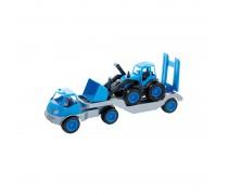 Vilkikas su traktoriumi 61,5 cm ir guminiais ratais | Mochtoys 10171_NIE