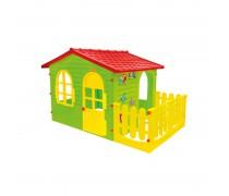 Didelis žaidimų namelis su tvorele | Mochtoys 10498