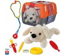Pliušinis šuniukas su veterinarijos gydytojo rinkiniu | Simba 5543060