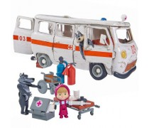 Maša ir greitosios pagalbos automobilis | Maša ir lokys | Simba 9309863