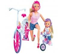 Lėlė Steffi ir Evi su dviračiais | Steffi | Simba 5733045