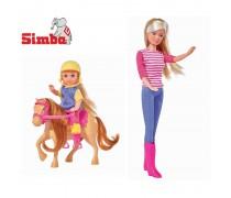 Lėlė Steffi ir Evi su žirgu | Steffi | Simba 5738051