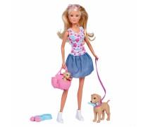 Lėlė Steffi su šuniuku | Steffi | Simba 5733310