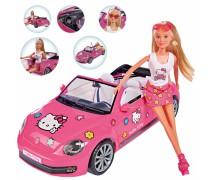 Lėlė Steffi su VW Hello Kitty mašina | Steffi | Simba 9283023