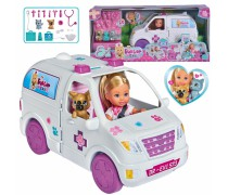Lėlytė Evi ir greitosios pagalbos automobilis 2in1 | Evi Love|  Simba 5733488
