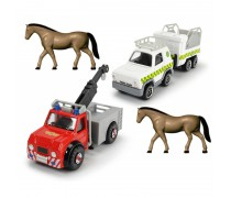 Metalinių mašinėlių rinkinys 2 vnt. ir 2 žirgai | Fireman Sam | Dickie 3099630_A