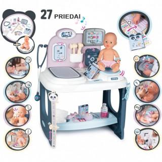 Gydytojo priežiūros rinkinys su lėle ir priedais 27 vnt. | Baby Care Centrum | Smoby 240300