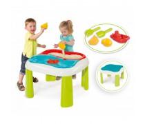 Smėlio ir vandens žaidimų stalas su dangčiu 2in1 | Smoby 840107