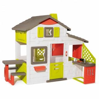 Žaidimų namelis su virtuvėle ir priedais 17 vnt.   Friends House   Smoby 810202