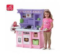 Vaikiška virtuvėlė su maitinimo kėdute ir priedais 30 vnt | Step2 8251