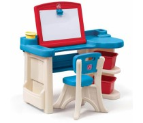 Vaikiškas dailininko stalas su piešimo lenta ir kėde | Step2 8431