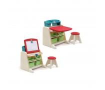 Vaikiškas stalas su atlenkiama piešimo lenta ir kėde | Step2 8365