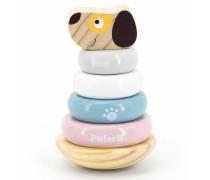 Linguojantis medinis žaislas piramidė - Šuniukas | PolarB | Viga 44042