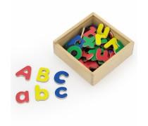 Medinės magnetinės raidės 52 vnt | Didžiosios ir mažosios | Viga 50324