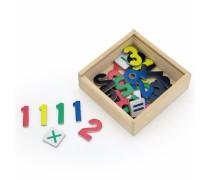 Mediniai magnetiniai skaičiai 37 vnt | Viga 50325