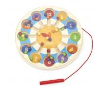 Medinis edukacinis laikrodis | Magnetinis labirintas | Viga 44560