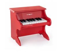 Vaikiškas medinis raudonas pianinas | Viga 50693