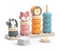 Veriamos medinės kaladėlės su gyvūnais | PolarB | Viga 44022