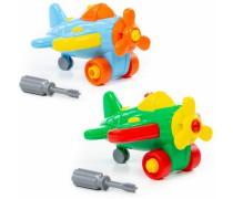 Konstruktorius 19 detalių | Lėktuvėlis su atsuktuvu | Wader 77110
