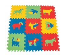 Edukacinis putų kilimėlis 9 vnt. | Gyvūnai | Woopie 28347