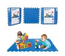 Edukacinis putų kilimėlis 4 vnt. | Mėlynas | Woopie 28316