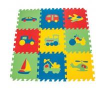 Edukacinis putų kilimėlis 9 vnt. | Transporto priemonės | Woopie 28354