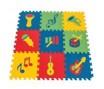 Edukacinis putų kilimėlis 9 vnt. | Muzikos instrumentai | Woopie 28330