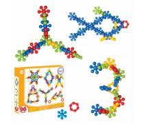 Kaladėlių rinkinys 96 vnt | Konstruktorius - Atomai | Woopie 29436