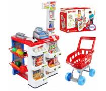 Žaislinė parduotuvė su vežimėliu ir priedais 24 vnt | Supermarketas | Woopie 28729