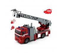 Gaisrinė mašina 31 cm su garso ir šviesos efektais | MAN City Fire Engine | Dickie 3715001