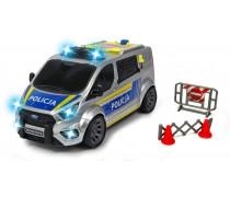 Policijos automobilis 28 cm su šviesos ir garso efektais | Ford Transit | Dickie 3715013