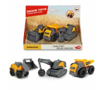 Mini statybinių mašinėlių rinkinys 3 vnt. | Volvo | Dickie 3722009