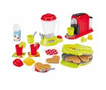 Pusryčių rinkinys - blyninė, kavos aparatas, maišytuvas ir priedai 24 vnt. | Ecoiffier 2524