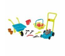 Sodininko rinkinys - karutis, žoliapjovė ir krepšelis su įrankiais | Ecoiffier 4584