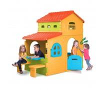 Žaidimų namelis su stalu, suoliukais ir durų skambučiu   Super Villa   Feber 12190
