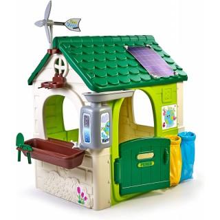 Žaidimų namelis saulės baterija, eko rūšiavimu ir vėjo malūnėliu | Feber 13004