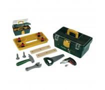 Vaikiška įrankių dėžė su elektriniu atsuktuvu ir priedais | Bosch | Klein 8305 / 8609