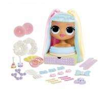 LOL lėlės galva 21,5 cm šukuosenoms | OMG Candylicious | MGA 572008EUC