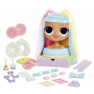 LOL lėlės galva 21,5 cm šukuosenoms   OMG Candylicious   MGA 572008EUC