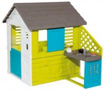 Žaidimų namelis su virtuvėlė ir priedais | Pretty Playhouse and Kitchen | Smoby 810711