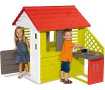 Žaidimų namelis su virtuvėlė ir priedais | Nature Playhouse and Kitchen | Smoby 810713