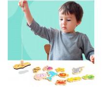 Medinis magnetinis žaidimas | Pagauk žuvytę | Tooky TKF040